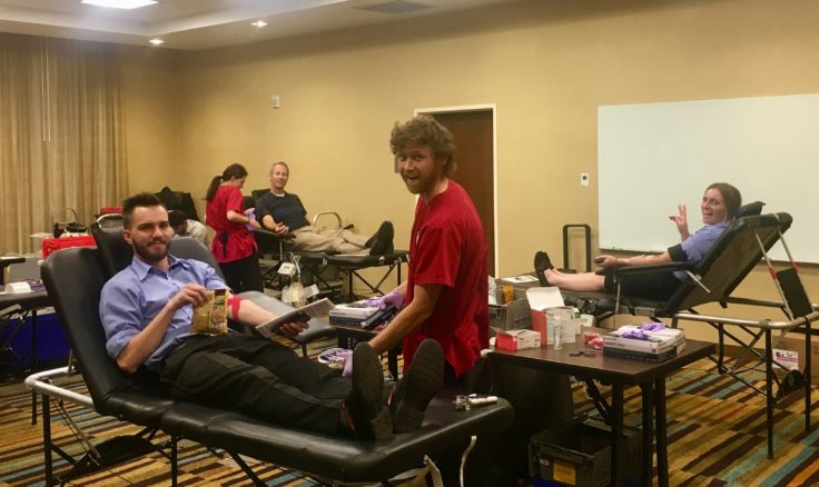 Team members from the Fairfield Inn and Suites and Towneplace Suites in Orem, UT joined forces with the American Red Cross to help save lives by hosting a blood drive at the Fairfield Inn and Suites.