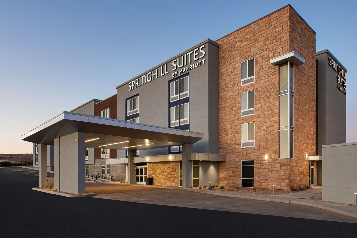 Pennbridge's Marriott SpringHill Suites St. George/Washington opened on November 22nd of 2019. The hotel is adjacent to the Green Spring Golf Course in Washington with pristine views of the local red rock hills and the distant Pine Valley Mountains. While located in a serene environment backing a golf course, the… Continue Reading..
