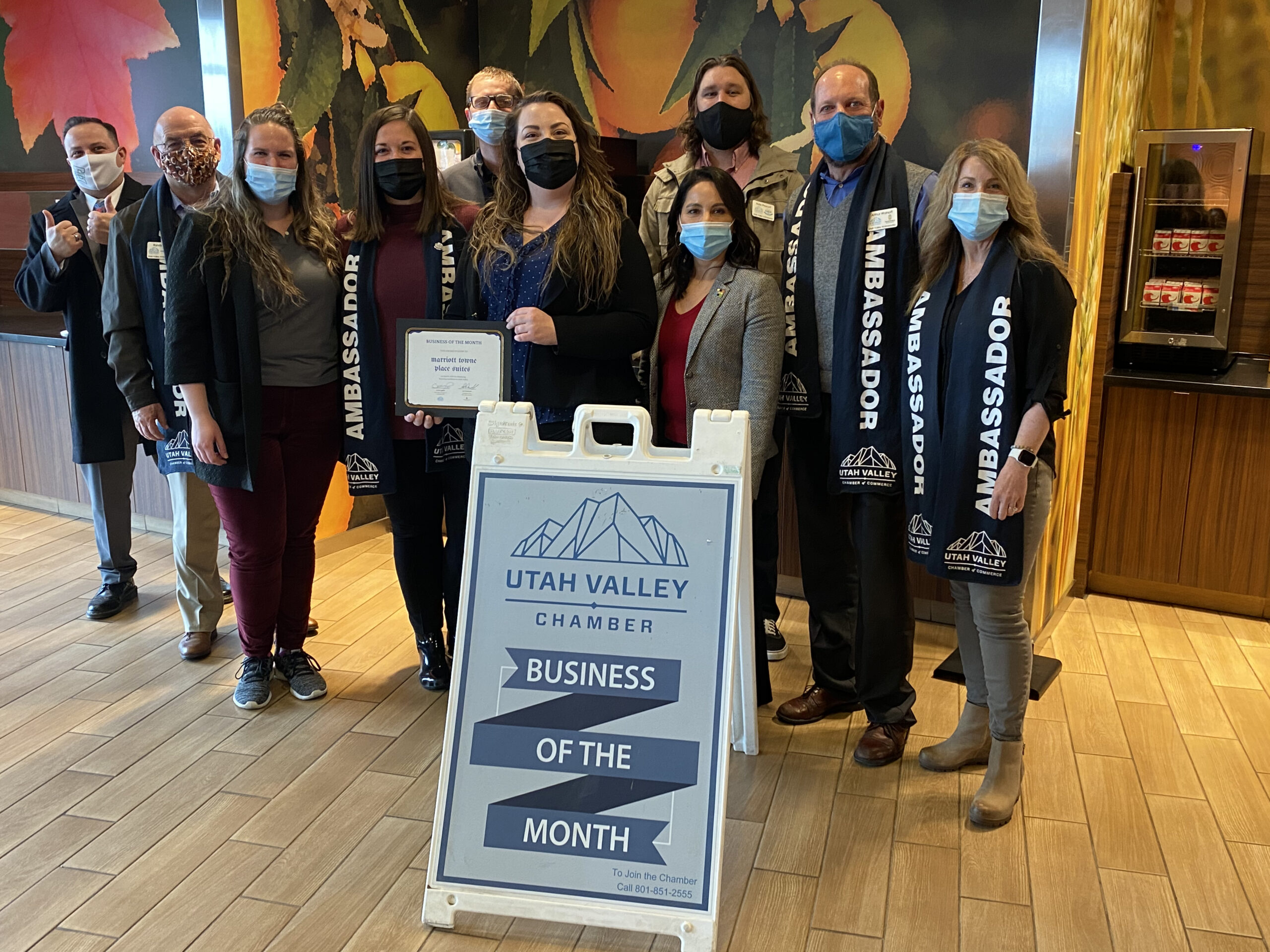 Pennbridge's TownePlace Suites in Orem recently had their Business of the Month presentation and was recognized as Utah Valley Chamber's business of the month for March.